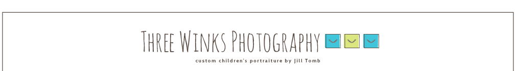 Three Winks Photography, Custom Children's Portraiture by Jill Tomb logo